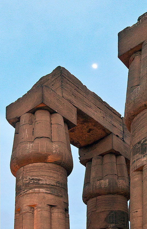 Moonrise and Column