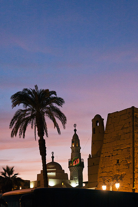 Mosque and Luxor Temple