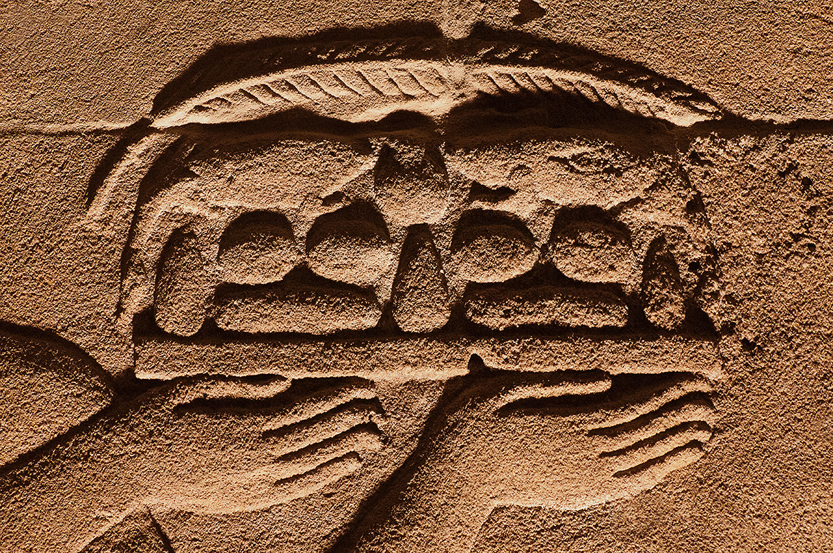 Philae Hands with Food Offerings