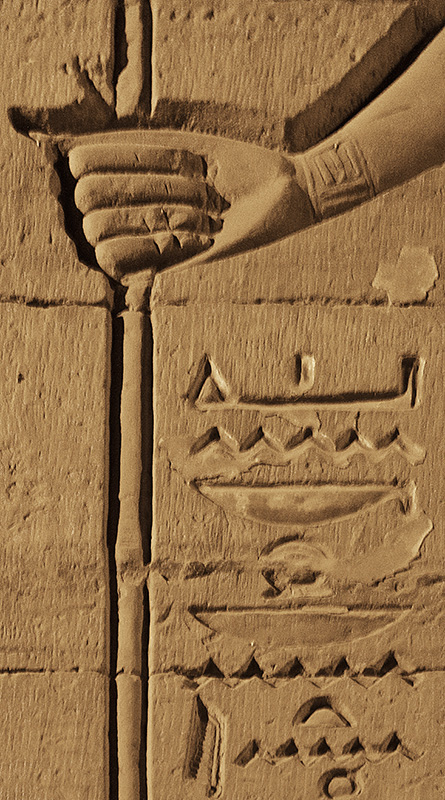 Kom Ombo Hand with Staff