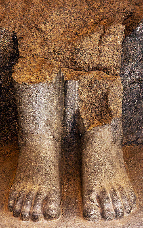 Ramesseum Feet of Sculpture