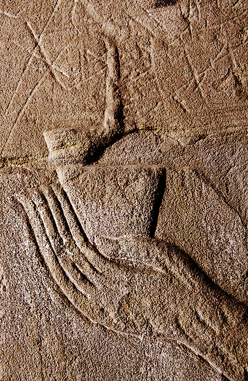 Edfu Hand with Bottle