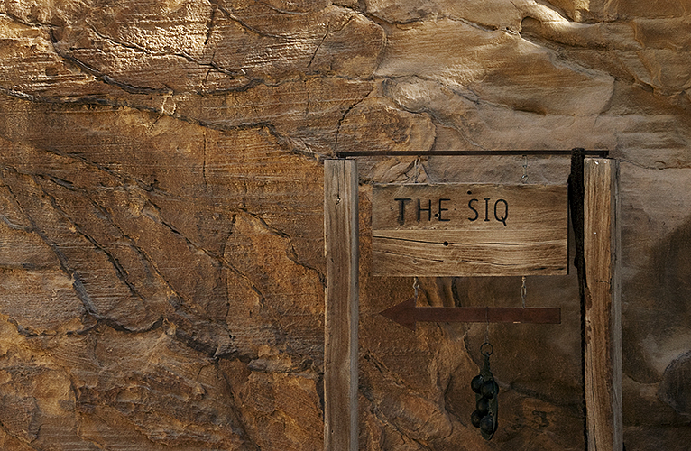 Entering the Siq