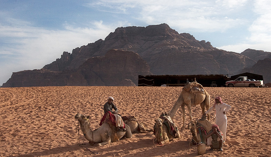 Bedouins heading back